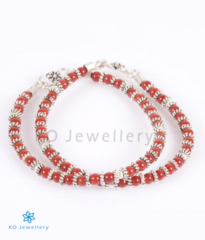 The Red Silver Anklets (Kids) - KO Jewellery
