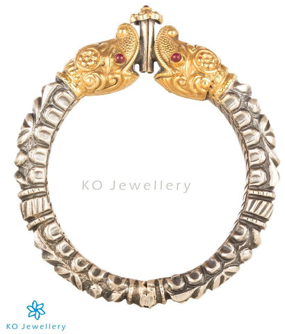 The Mahamukha Antique Silver Kada