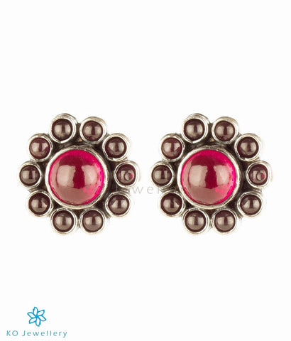 Silver and zircon office wear earrings for women