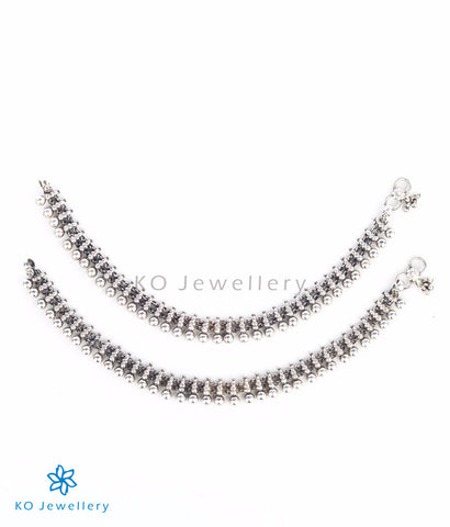 Antique anklets in silver