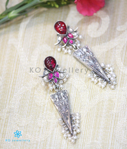The Mithya Silver Antique Earrings