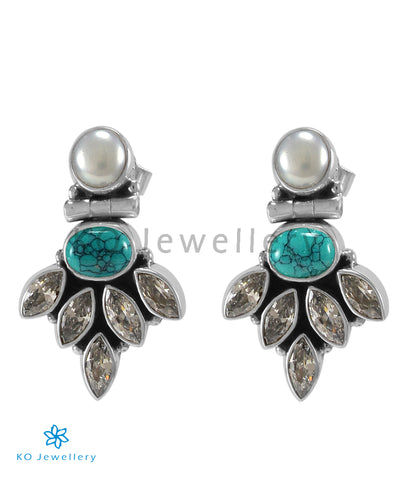The Amrit Silver Gemstone Earrings (Turquoise)