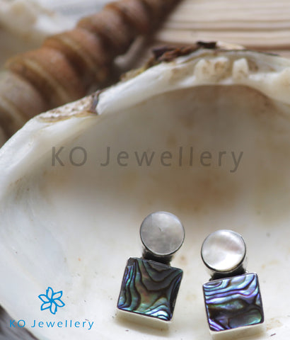 The Itish Silver Abalone Earrings
