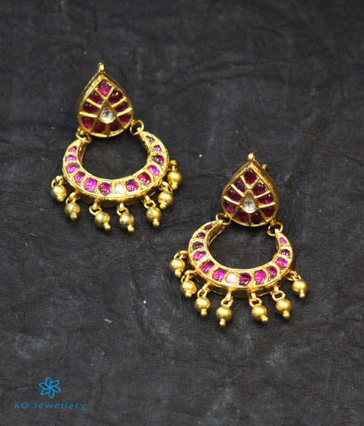 The Lubna Silver Kundan Chand-Bali Earrings