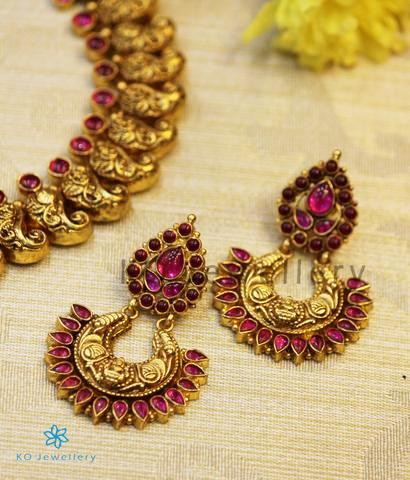 The Prakriti Silver Antique Chand-Bali Earrings