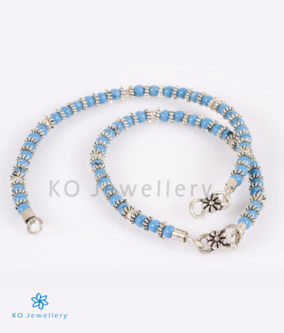 The Blue Silver Anklets (Kids) - KO Jewellery
