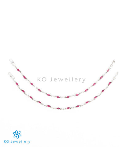 Red gemstone anklets lightweight