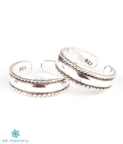 The Mia Silver Toe-Rings