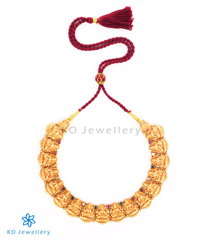Ancient Lakshmi necklace gold dipped temple jewellery collection