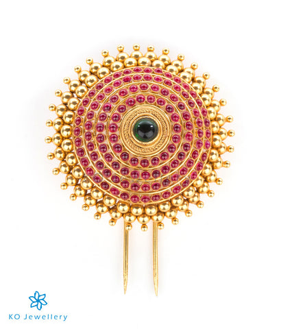 Stunning bridal temple jewellery gold dipped hairpin