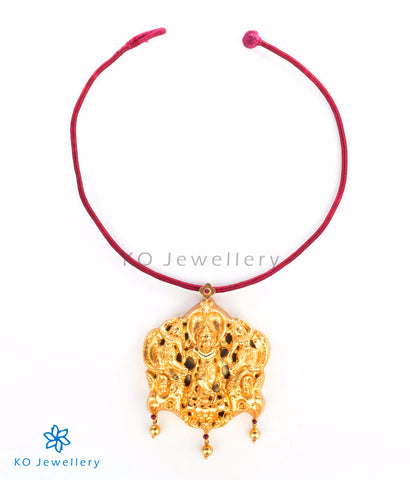 Traditional South Indian temple jewellery gold dipped pendant