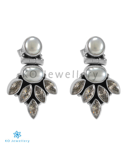 The Amrit Silver Gemstone Earrings (Pearl)