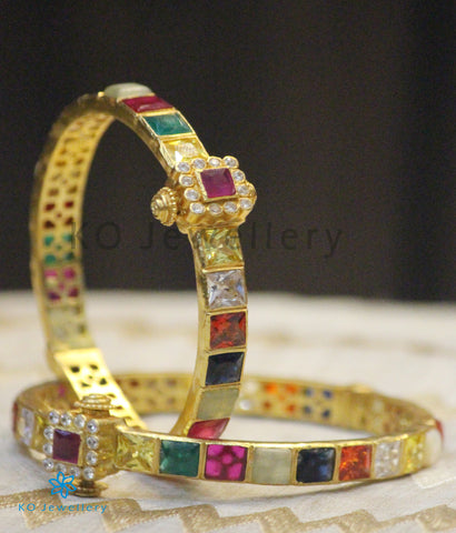 The Sampada Silver Navaratna Bracelet