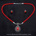 Red tear drop contemporary necklace shop online