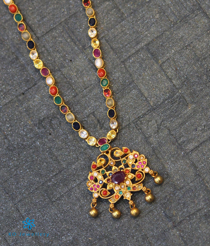 The Vashist Silver Navaratna Necklace