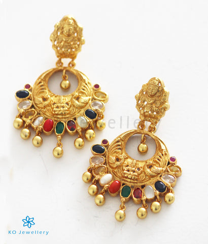 The Shraddha Antique Silver Navaratna Chand Bali
