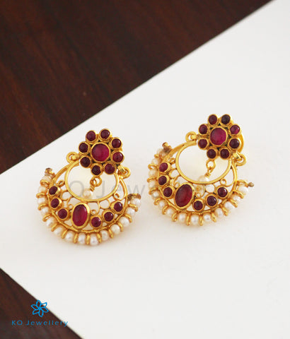 The Rasika Silver Chand Bali Earrings (Small)
