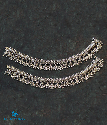 The Nritya Bridal Silver Anklets