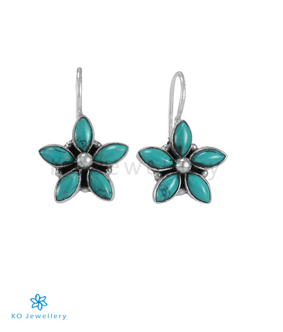 The Amita Silver Gemstone Earrings (Turquoise)