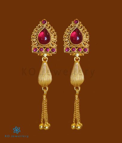 The Paridhi Silver Earrings