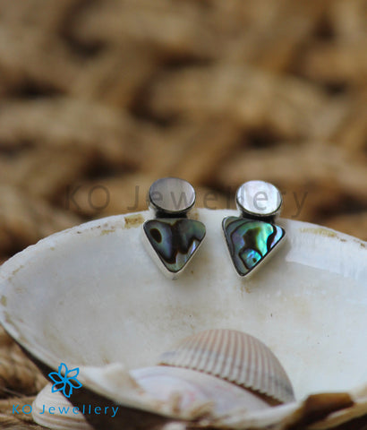 The Bhumi Silver Abalone Earrings