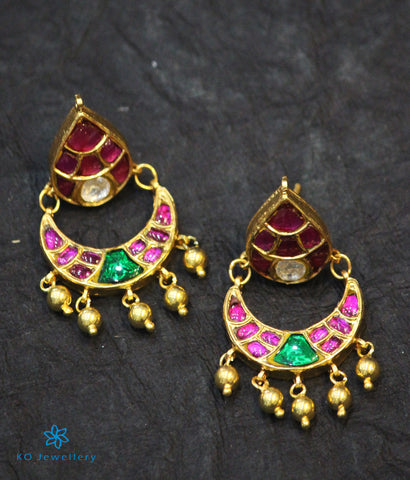 The Mehreen Silver Kundan Chand-Bali Earrings
