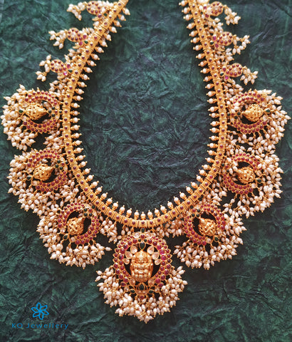 The Pushpalakshmi Silver Guttapusalu Necklace