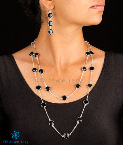 Silver and semi precious black onyx jewellery