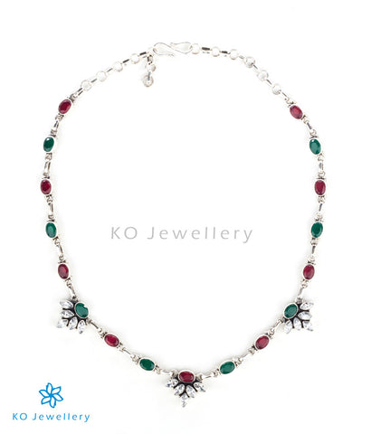 Multi-coloured gemstone necklace for work