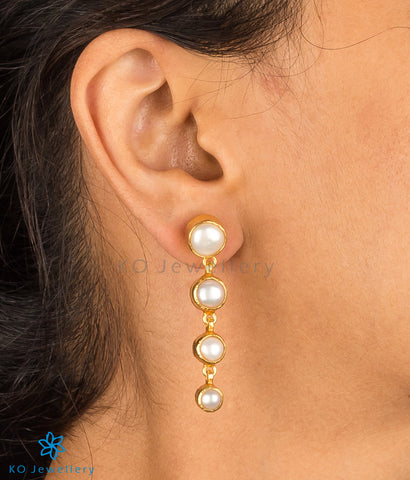 Exotic temple jewellery earrings with pearls