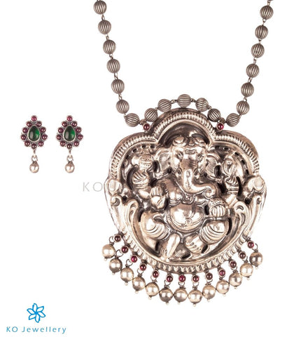 The Bhupati Silver Ganesha Necklace