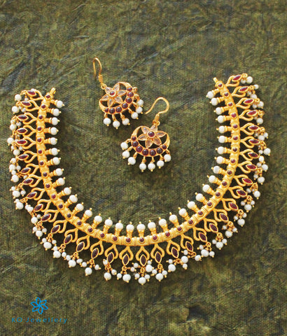 The Dharitri Silver Pearl Necklace
