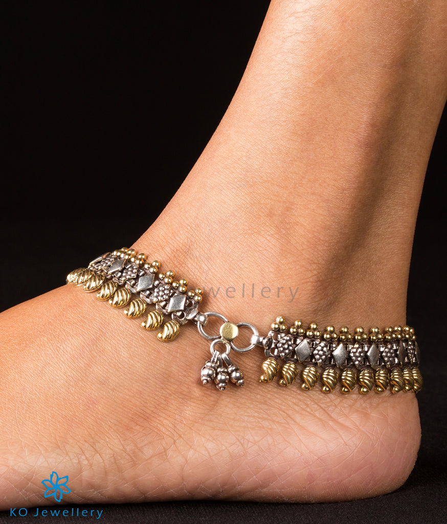 cord anklets silver bohemian waxed and cotton handmade original or handm thailand bells adjustable anklet gold jewelry products size img collections