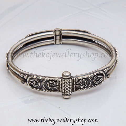 The Chirag Silver Bracelet (two line)