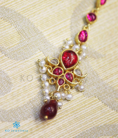South Indian temple jewellery maang tikka for brides