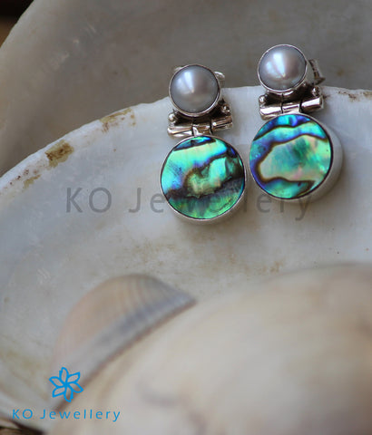 silver and semi precious abalone jewellery