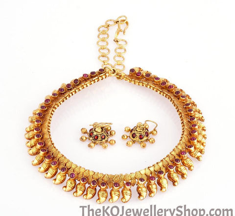 The Golden Mango Necklace - KO Jewellery