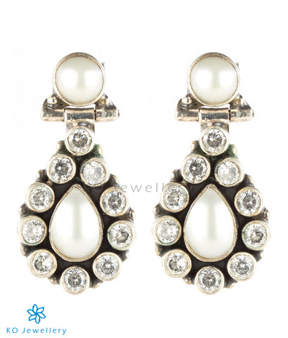 Pearl and cubic zircon handcrafted gemstone jewellery online