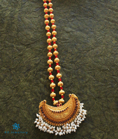 The Vaidehi Jomale Silver Necklace (Red)