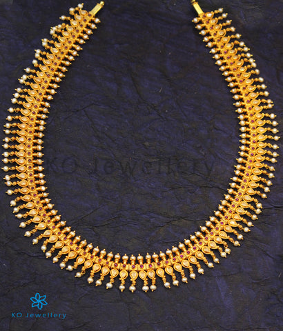 The Nabha Silver Mango Necklace/Waistbelt