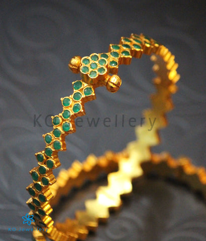 The Vajra Silver Bracelet (Green)