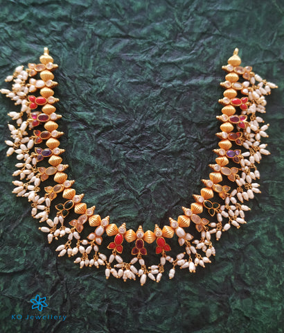 The Sampriti Silver Navratna Necklace (Short)