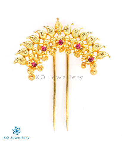 Vintage temple jewellery bridal hair pin