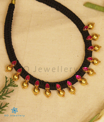 The Pahal Silver Choker Necklace (Red)