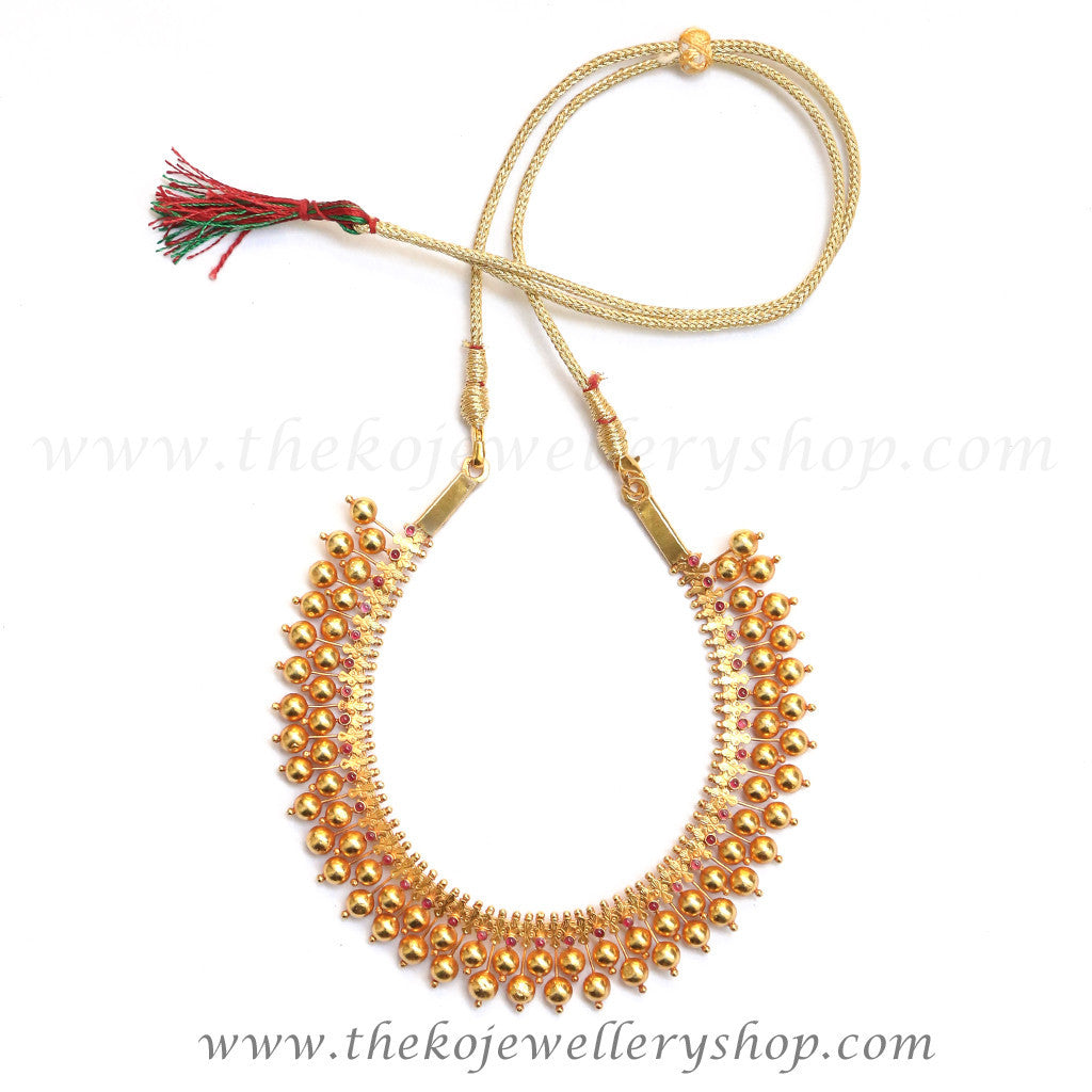 gold plated antique jewellery shop online ...  sc 1 st  KO Jewellery & The Kanishtha Necklace - KO Jewellery