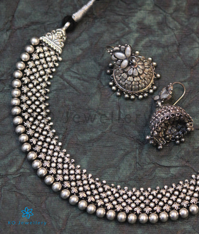 The Amrita Antique Silver Necklace (Oxidised)