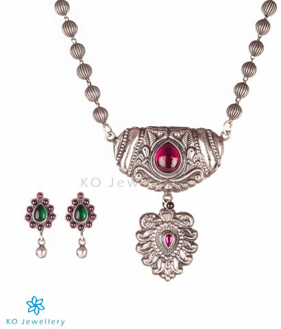 The Drishya Silver Reversible Necklace