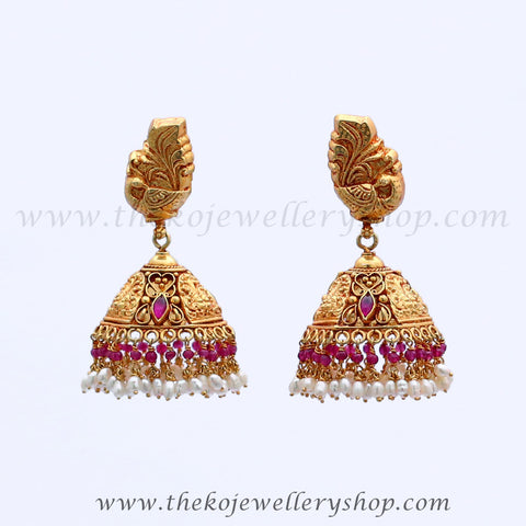 Shop online for women's gold plated silver jhumka