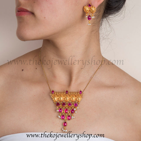 Handcrafted temple jewellery indian ethnic world wide shipping