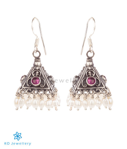 Handcrafted temple jewellery jhumkas for ethnic wear